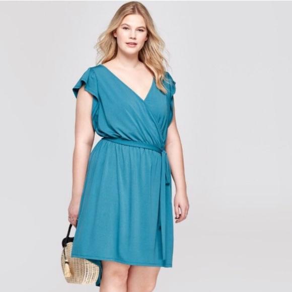9433ef5b8de Ava   Viv Dresses   Skirts - Target plus size Ava   Viv Teal wrap dress